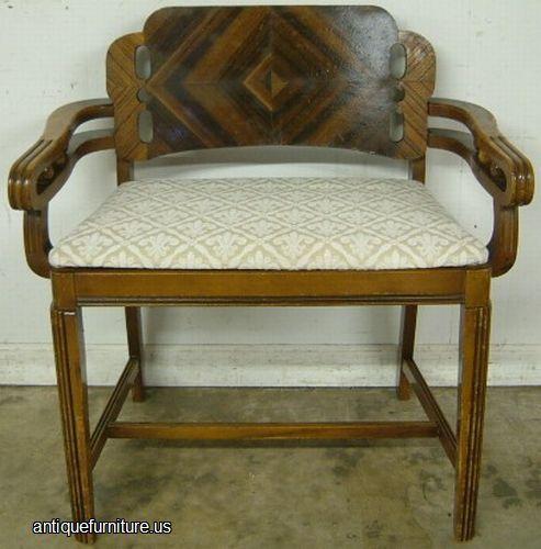 Art Deco Vanity Bench Image - använd backboard som fauz-fanérguide.