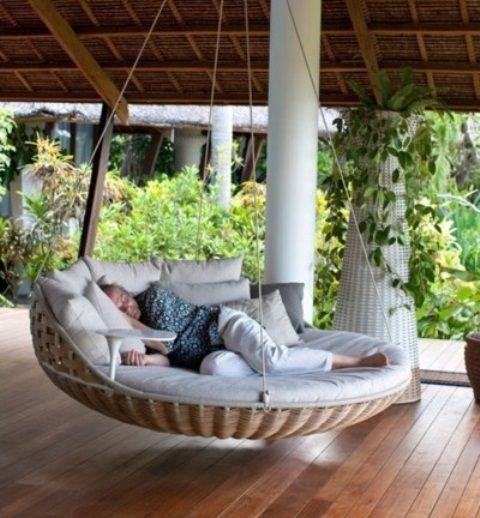 39 Avslappnande utomhushängande sängar för ditt hem |  DigsDigs.