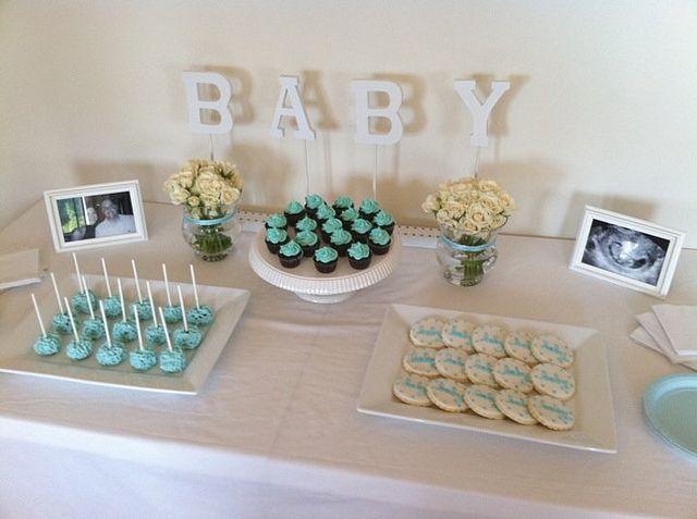 Babydusch Dessertbord - Pojke    Baby shower dessertbord, Baby.