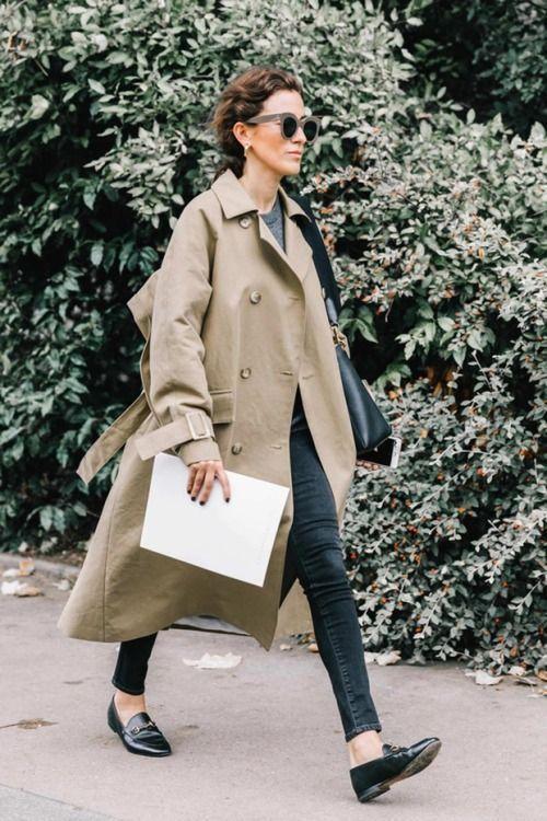 Bästa 20 fallkläder |  Trenchcoatdräkt, Street style kvinnor, Kappa.