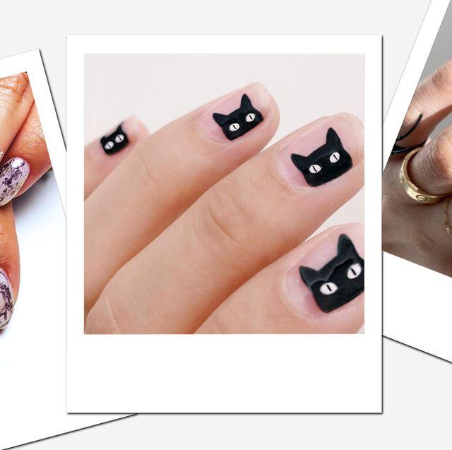 30 DIY Halloween nagelkonstidéer - Bästa nageldesigner och manikyr.