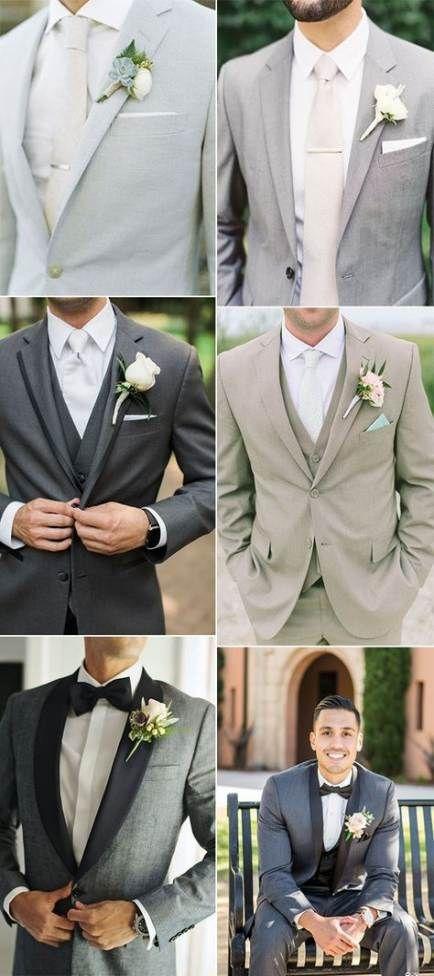 Bröllopsfärger Grå groomsmen 50+ trendiga idéer    Brudgummen.