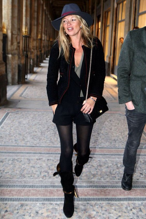 Kate Moss Street Style With Hat 1 |  Kate moss street style, Kate.