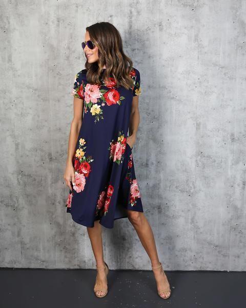 65+ bästa blommiga klänningar Inspirationer |  Blygsamma klänningar, söt.