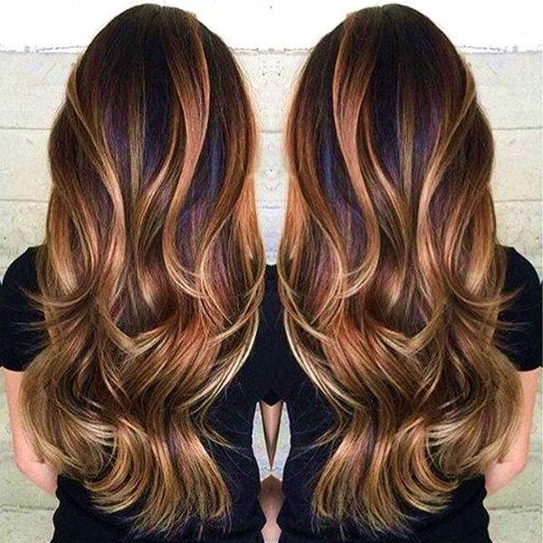 16 bästa Balayage-hårfärgidéer för brunetter 2017 # hår.