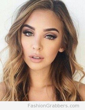 Grön ögonmakeup för blont hår |  |  Makeup för blont hår, hår.