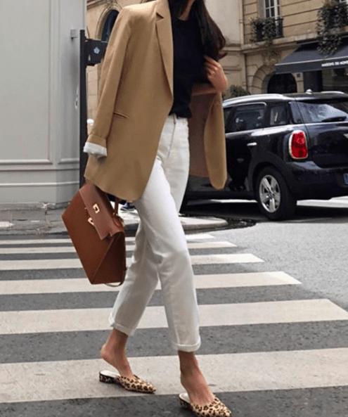 16 bästa höst vinter minimalistiska mode    Hur man bär vita jeans.