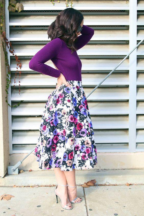 15 bästa sätten att bära blommigtryck  Mode, blygsamma kläder.