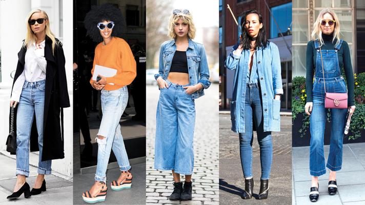 De bästa kläderna i denim street style |  StyleCast