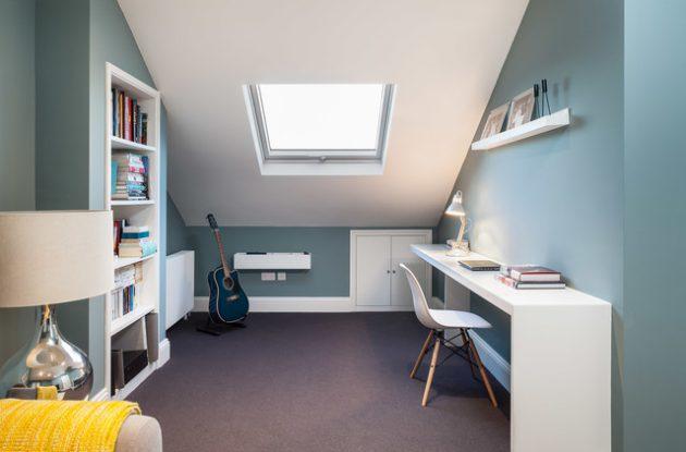 16 blå hemmakontorsdesigner som kommer att fånga din E
