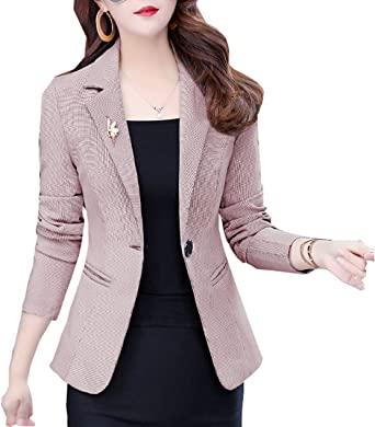 SHUIANGRAN Randiga kontorsarbetsjackor för kvinnor långärmad.