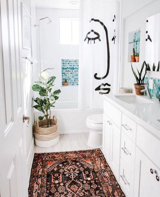 boho badrum hemdesign idéer.  |  Badrum inredning lägenhet, Chic.