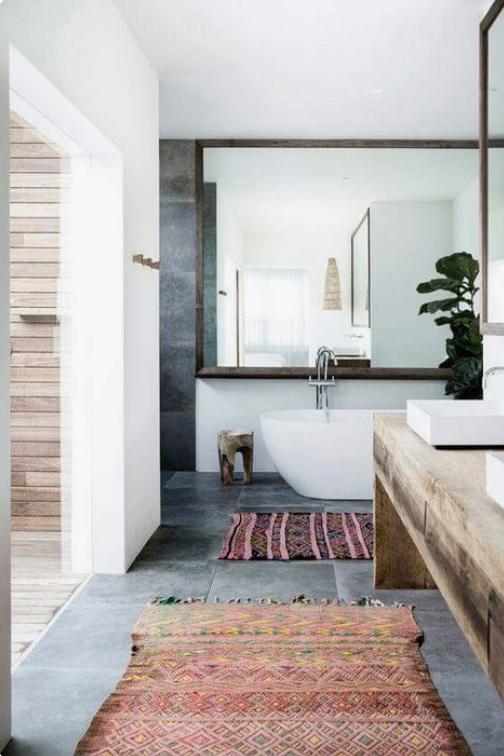 Efter - Det modhemska bohemiska badrumsstilen - enkla tips att höja.