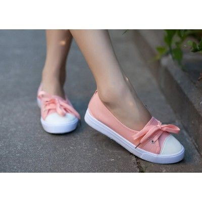 Front spets canvas platt casual damskor sneakers |  Casual.