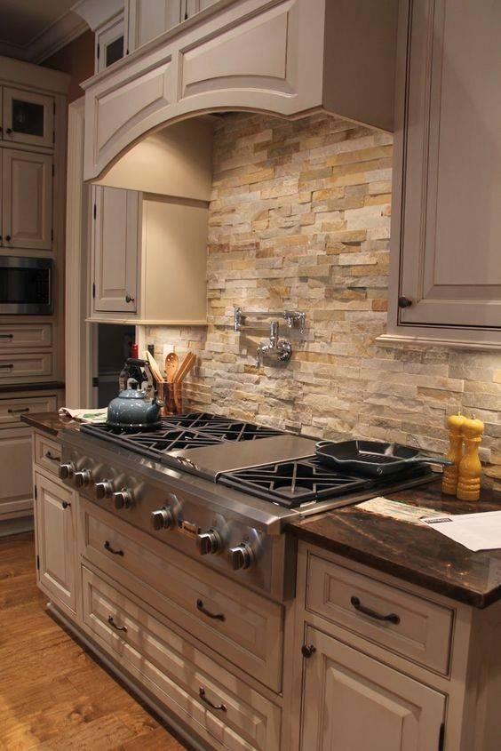 Cool Stone Rock Kitchen Backsplashes Wow - Homes Dec.
