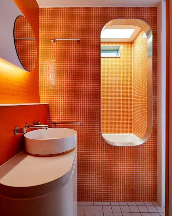 50 coola orange designdesigner för badrum - DigsDi