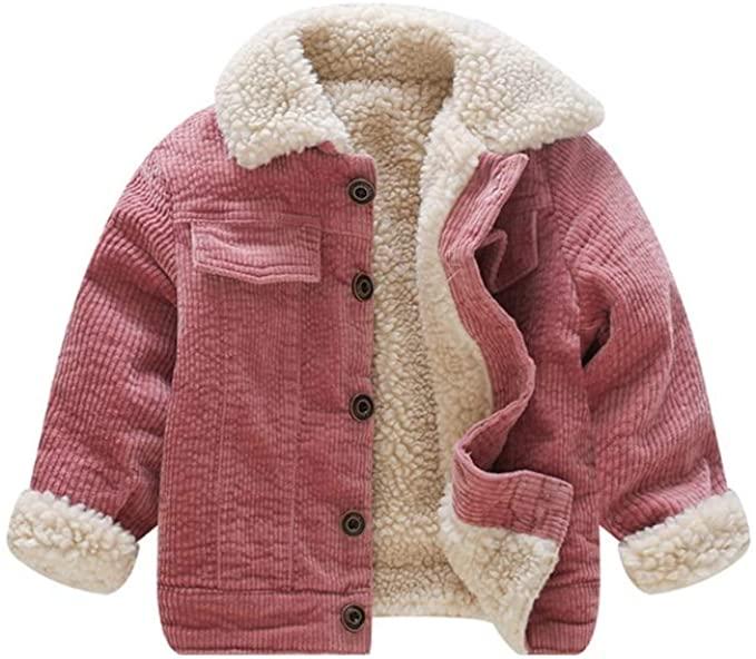 Amazon.com: Stesti Winter Coat för Baby Girl Corduroy Jackor Barn.