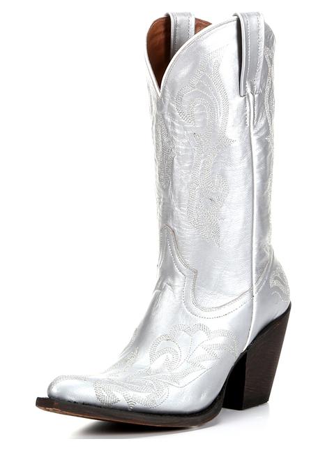 Trendvarning: Silver Cowboy Stövlar    Hästar och klackar  Kvinnors cowgirl.
