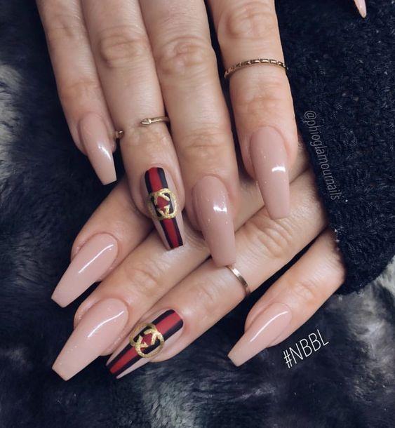 Bästa Gucci-naglarna - fashiondiys.com 2020    Snygga naglar.