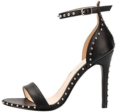 Amazon.com |  Nitar dubbade sandaler för kvinnor, Stiletto Pumps High.