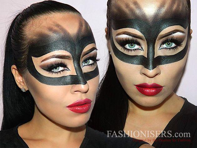 Catwoman Makeup Tutorial för Halloween 2020 |  Catwoman makeup.