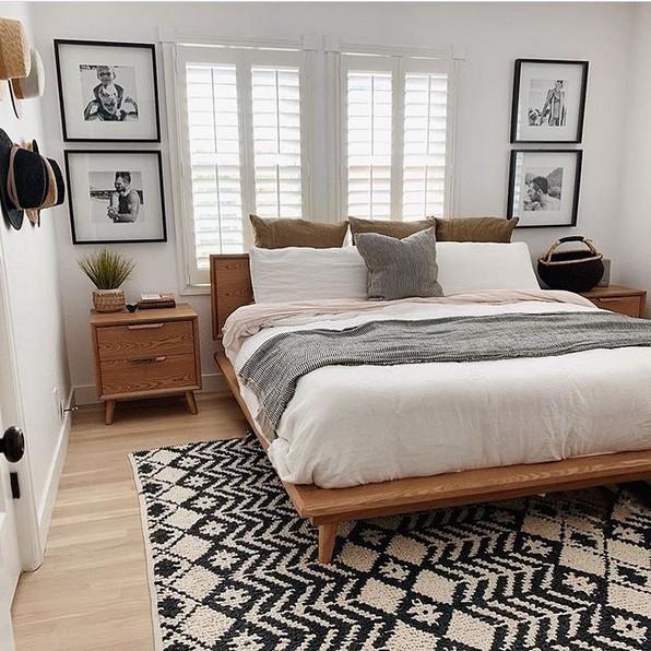 18 Chic och trendiga moderna sovrumsdesigner från mitten av århundradet 23.