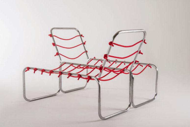 En unik uppsättning möbler för att ansluta människor som använder it-möbler.