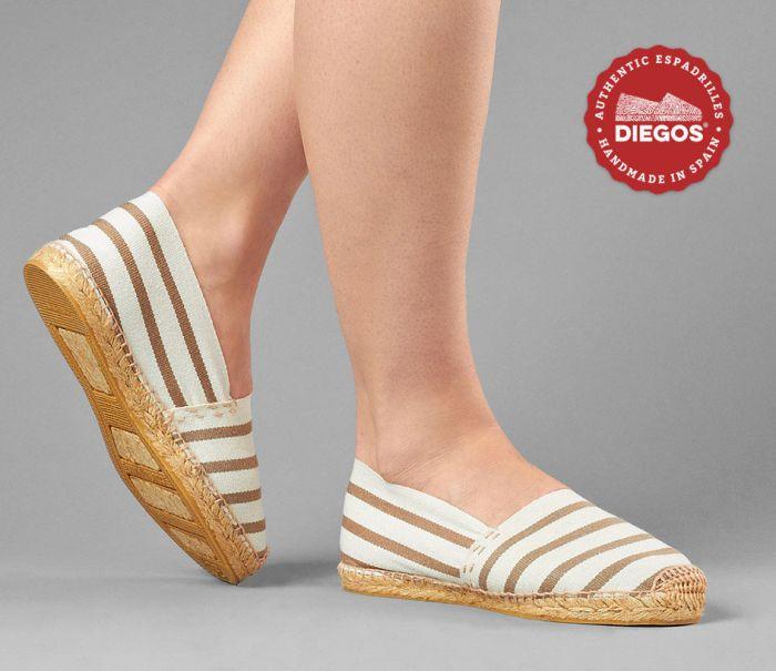 Espadrilles Kvinnor   Eleganta platta Espadrille skor med jutefärgade.