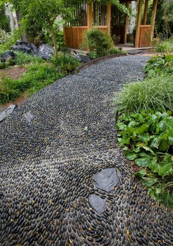 52 Amazing Pebble Garden Paths - DigsDi
