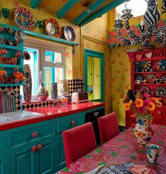 35 färgglada Boho Chic köksidéer för att dekorera ditt rum.