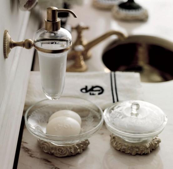 Fascinerande och lyxiga badrumstillbehör från Savio Firmino.