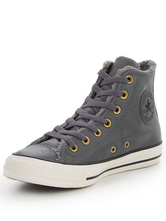 Fodrade chuckar för damer 2020    Converse skor dam, pälsfodrad.