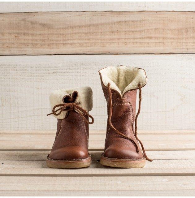 Skandinaviska fleecefodrade stövlar för kvinnor |  Vackra läderstövlar.