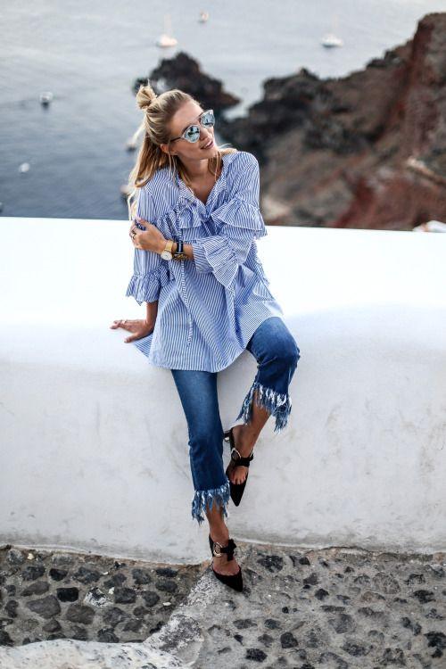 slitna jeans på sommaren