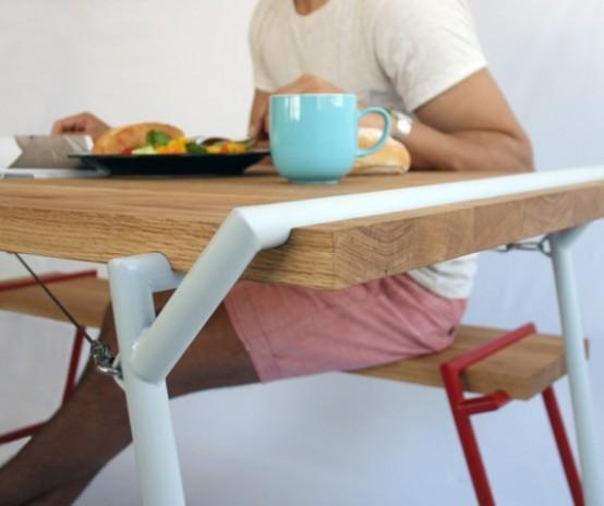 Funktionellt industriellt Atlas matbord och skrivbord i ett - DigsDi