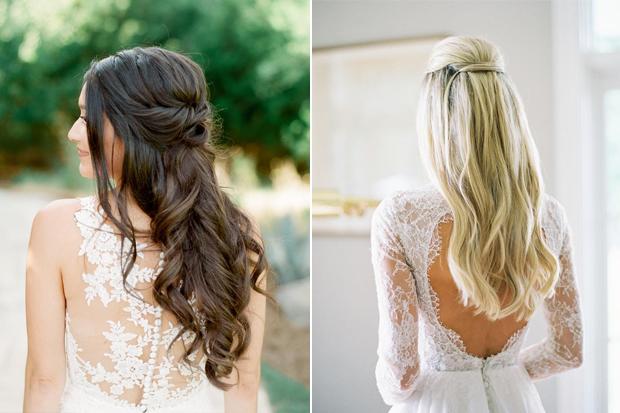 12 Pretty Half Up Half Down Bridal Frisyrer |  bröllopsonli