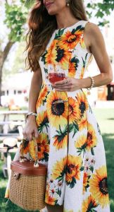 Trädgårdsfestklänning