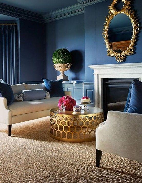 38 Glam guld accenter och tillbehör för din inredning |  Blå.