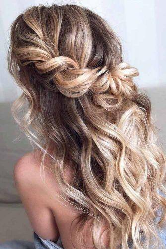 38 sötaste halv upp halv ner frisyr för speciell tillfällen i.