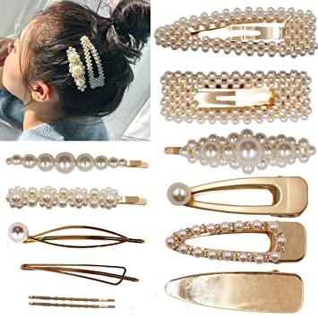Amazon.com: 12st Pärlor Hårklämmor Eleganta hårtillbehör för.