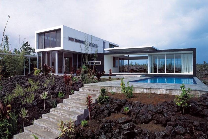 Hawaii-hus byggda på härdad lava |  Arkitekt Magazi