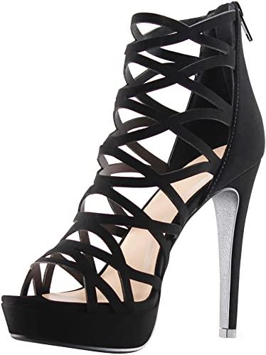 Amazon.com    MARCOREPUBLIC Alexandra Womens High Toe-klackar för kvinnor.