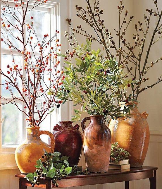 Höstdekor med grenar: 56 fantastiska idéer |  Toskansk dekoration.