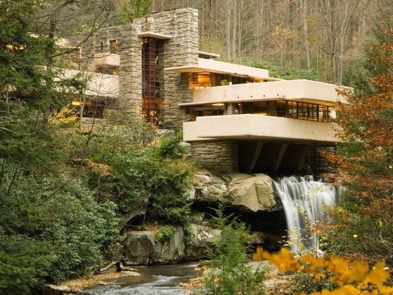 Frank Lloyd Wrights vackra hus, strukturer och byggnader.