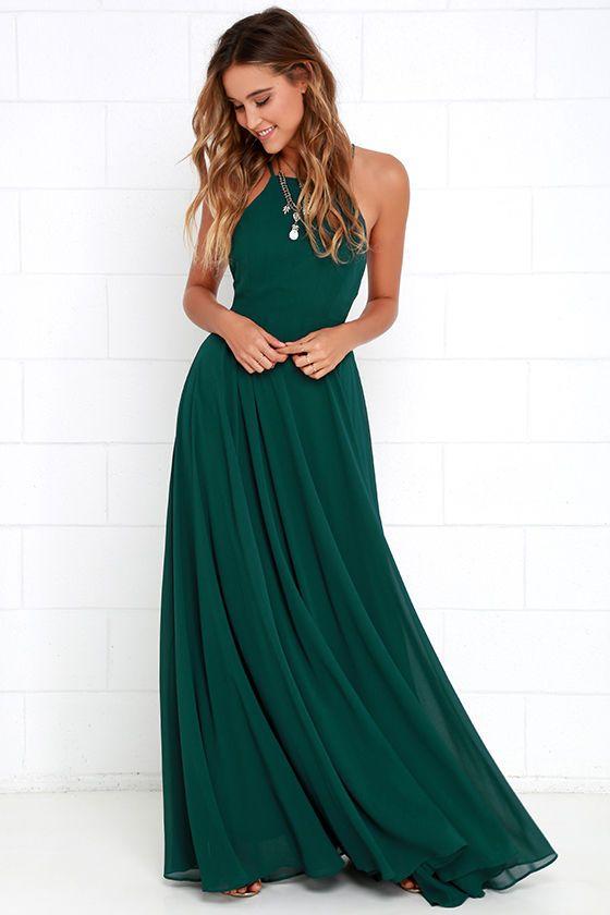 Smaragdgrön klänning med grime