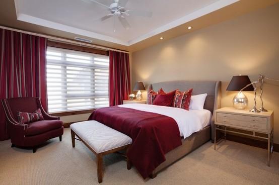 Hur man dekorerar ditt sovrum med Marsala: 20 idéer - DigsDi