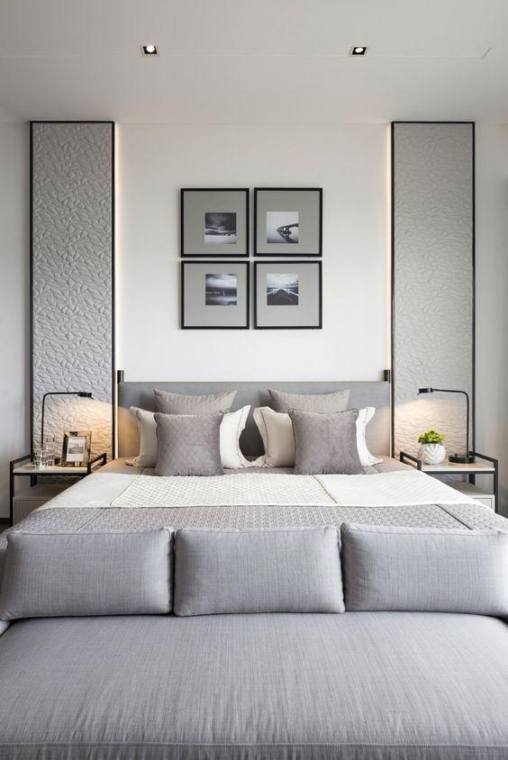 25 enkla sätt att göra ett grått sovrum coolt (с изображениями.