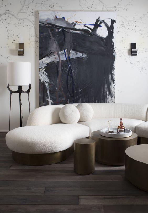 23 icke-tråkiga vita soffidéer för ditt vardagsrum    Vardagsrum .