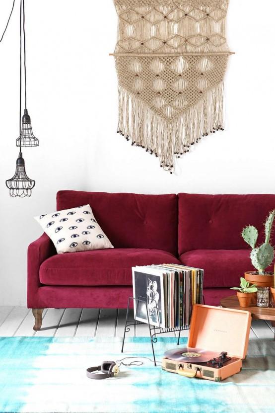 26 idéer för att framhäva ditt vardagsrum med Marsala - DigsDi