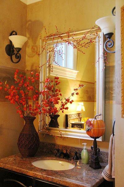 Vacker badrumsinspiration: Höstdekorationsidéer |  Hösten.